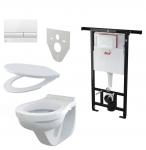 Alcaplast SET 5 v 1: Jadromodul + WC misa + WC sedátko + ovlád.tlačítko + izolačná doska