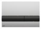 Alcaplast ovládacie tlačítko pre predstenové inštalačné systémy chróm matný/čierna M1712-8
