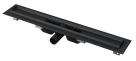 Alcaplast APZ101B nerezový podlahový žľab znížený 70-150 cm čierny