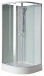 Aqualine AIGO štvrťkruhový sprchový box s vaničkou 90 x 90 cm