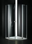 Aquatek GLASS S6 rohový štvrťkruhový sprchovací kút 90 cm