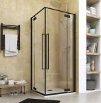 Aquatek JAGUAR A4 čierny sprchový kút 90x90 cm rohový vstup
