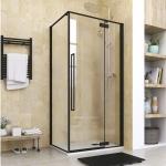 Aquatek JAGUAR R13 čierny obdĺžnikový sprchový kút 100x80 cm