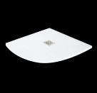 Aquatek TOP štvrkruhová sprchová vanička 90x90 cm biela