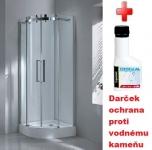 Aquatek TEKNO S04 štvrťkruhový sprchovací kút 90 cm