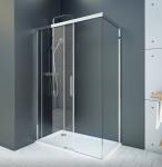 Aquatek WELLNESS B2+F1 sprchový kút posuvné dvere s brzdiacim systémom 110-160x70-95 cm