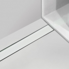 Alcaplast GL1200 650 - 1150 rošt zo skla biely 70 - 120 cm