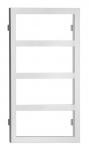 DENALI kúpeľňový radiátor výška 90 cm biely