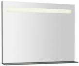 BRETO zrkadlo s LED osvetlením a policou 80 cm