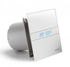 CATA tichý dizajnový kúpeľnový ventilátor s vlhkomerom, biely E100GTH