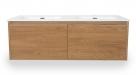 Bestline CHARM skrinka s dvojumývadlom 120 cm orech