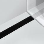 Alcaplast GL1204 650 - 1150 rošt zo skla čierny 70 - 120 cm