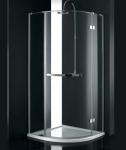 Aquatek CRYSTAL S3 štvrťkruhový sprchovací kút 90 cm