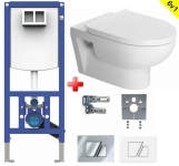 Duravit WC SET 6v1: Duofix + WC misa DURA STYLE Rimless + sedátko SoftClose + tlačítko