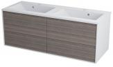 Erra KROMA skrinka pod dvojumývadlo 120 cm, biela/mali wenge