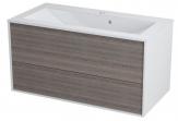Erra KROMA skrinka pod umývadlo 90 cm, biela/mali wenge