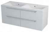 Erra WAVE II skrinka pod dvojumývadlo 120 cm biela