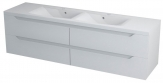 Erra WAVE II skrinka pod dvojumývadlo 180 cm biela