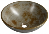 FORMIGO betónové umývadlo na dosku 40 cm šedá pásikavá