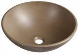 FORMIGO betónové umývadlo na dosku 40 cm svetlo hnedé