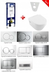 Geberit SET 5 v 1: Duofix + Villeroy & Boch Ceramic Plus, DirectFlush, Softclose