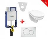 Geberit SET 5v1: Kombifix + WC so sedátkom Ideal Standard + ovládacie tlačítko biele