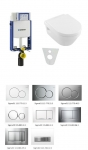 Geberit SET 5 v 1: Kombifix Eco + Villeroy & Boch Ceramic Plus, DirectFlush, Softclose