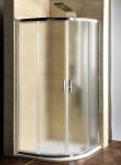Gelco SET 2v1: štvrťkruhový sprchový kút 90 cm sklo Brick + vanička liaty mramor