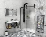 Gelco VOLCANO BLACK sprchové dvere 120-140-180 cm čierne