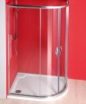 Gelco SIGMA štvrťkruhový sprchový kút 100x80/ 120x90 cm, číre
