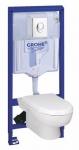 Grohe SOLIDO SET 4 v 1: RAPID SL modul + WC misa + WC sedátko + ovlád.tlačítko biele