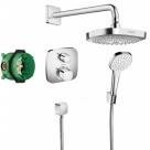 Hansgrohe sprchový podomietkový set CROMA Select E termostatický