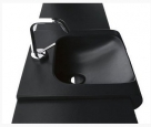 INKA umývadlo na dosku čierne 60 cm