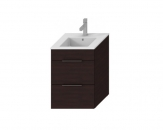 Jika CUBE skrinka s umývadlom 45 cm tmavý dub so zásuvkami  453622