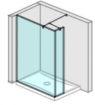 Jika PURE sprchová zástena walk-in 120/130/140 cm + krátke sklo 20 cm