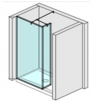 Jika PURE sprchová zástena walk-in 70/80 cm + krátke sklo 20 cm