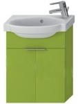 Jika TIGO skrinka s umývadielkom 45 cm s otvorom pre batériu vpravo zelena 455103