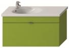 Jika TIGO skrinka s umývadlom 100 cm s otvorom pre batériu vľavo zelená 455187