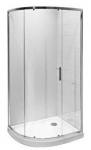 Jika TIGO štvrťkruhový sprchový kút asymetrický 100x80 cm