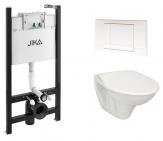 Jika komplet WC: Sadromodul + závesné WC + plastové sedátko + ovlád. tlačítko