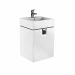 Kolo TWINS skrinka pod umývadlo 50 cm s dvierkami biela lesklá 89483
