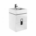 Kolo TWINS skrinka pod umývadlo 50 cm s 2 zásuvkami biela lesklá 89489