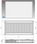 Korado radiátor 21K výška 30/40/50/60 cm