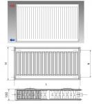Korado radiátor 22K výška 30/40/50/60 cm