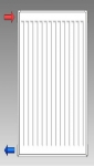Korado radiátor 21K výška 90 cm