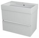 LARGO skrinka s umývadlom 70 cm biela