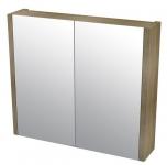 LARITA zrkladlová skrinka 80 cm, dub graphite