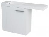 LATUS VI umývadlová skrinka 50 cm biela ľavá