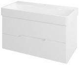 MEDIENA skrinka pod umývadlo 100 cm matná biela