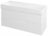 MEDIENA skrinka pod umývadlo 120 cm matná biela